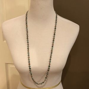 Long circle bead necklace